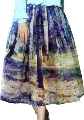 Jassu Fashion Hub Printed Women,s Regular Purple Skirt