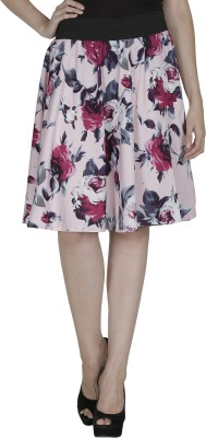 Shopingfever Floral Print Women's A-line Pink, Red Skirt at flipkart
