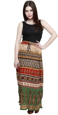 Pistaa Printed Women's A-line Multicolor Skirt