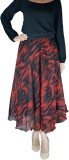 DeeVineeTi Printed Women's Gathered Red,...