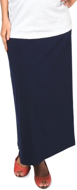 Nine Maternity Wear Solid Women's A-line Dark Blue Skirt