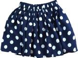 IDK Printed Girls Gathered Blue Skirt