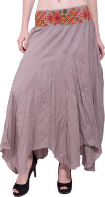 Tuntuk Solid Women's A-line Grey Skirt