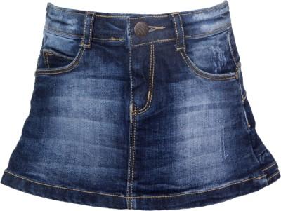 Vitamins Solid Girl's Regular Dark Blue Skirt