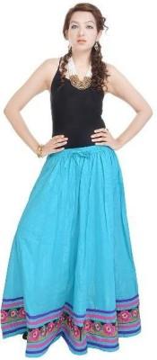 Navya Creations Printed Women's Straight Green Skirt