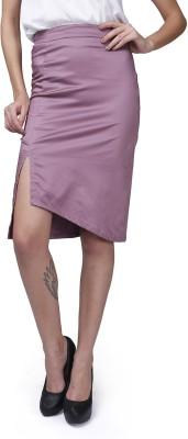 GarrB Solid Women's Pencil Grey Skirt
