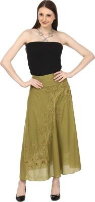 Sataro Women,s A-line Green Dress