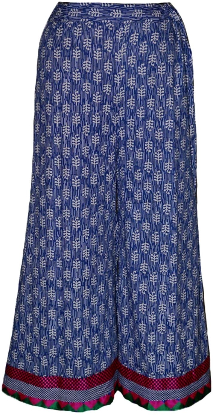 Alicolours Printed Womens A-line Light Blue, Pink Skirt
