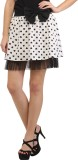 Cation Printed Women's A-line White Skir...