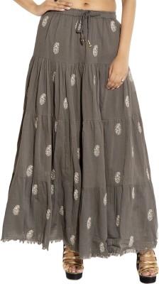 Simplona beau Printed Women's A-line Grey Skirt