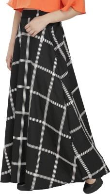 FASHMODE Embellished Women's A-line Black Skirt