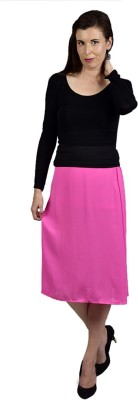 Saffora Fashion Solid Women's A-line Pink Skirt