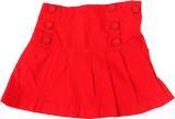 ChildKraft Solid Girls Regular Red Skirt
