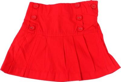 Childkraft Solid Girl's Regular Red Skirt