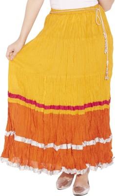 Globus Solid Women's Regular Yellow Skirt