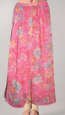 Vivaa Floral Print Women's Wrap Around Multicolor Skirt