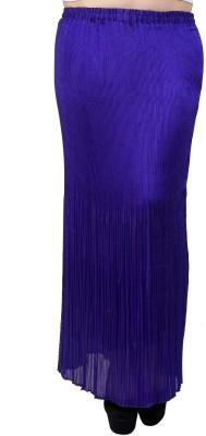 Rvestir Solid Women's Pleated Purple Skirt