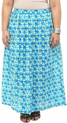 kira plus Printed Women's A-line Light Blue Skirt