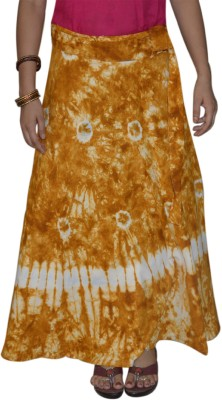 Marusthali Printed Women,s Wrap Around Brown Skirt