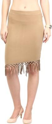 Rare Solid Women's Pencil Beige Skirt