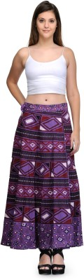 Saffron Craft Printed Women's Wrap Around Multicolor Skirt