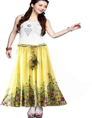 APEX THREAD PRIVATE LIMITED Printed Women's Regular Yellow Skirt