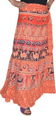 Marusthali Printed Women,s Wrap Around Multicolor Skirt