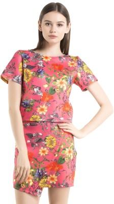 Kazo Printed Women's Regular Pink Skirt