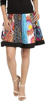 Maggie Printed Women's Regular Multicolor Skirt