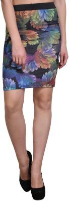 Shararat Floral Print Women's Pencil Multicolor Skirt