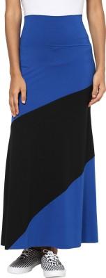 T-shirt Company Solid Women's Straight Blue, Black Skirt