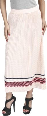 Naitik Printed Women's Regular Orange Skirt