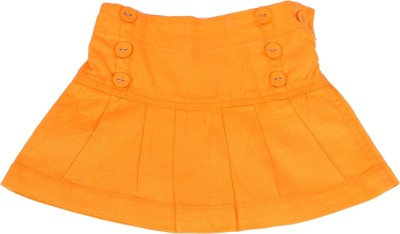 Childkraft Solid Girls Regular Orange Skirt