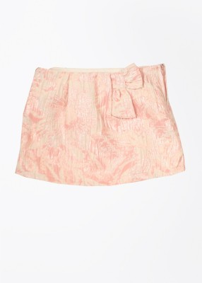 United Colors of Benetton Printed Girls A-line White, Pink Skirt