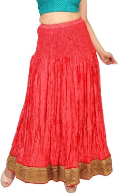 Carrel Embroidered Women's Wrap Around Pink Skirt