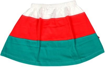 Dreamszone Solid Girl,s Regular White, Red, Green Skirt