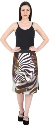 Woodin Printed Women's A-line Multicolor Skirt