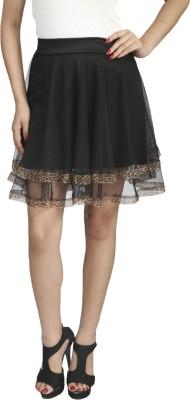 Naitik Solid Women's Regular Black Skirt