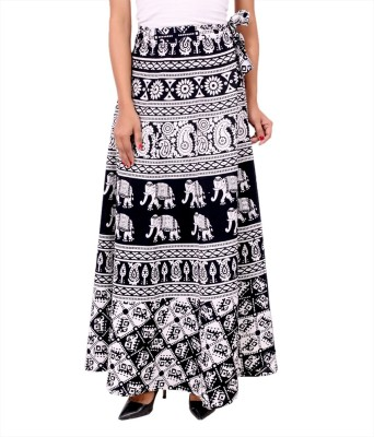 Panno Printed Women's Straight Multicolor Skirt