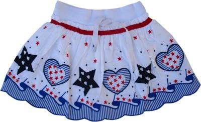 Garlynn Applique Girl's A-line White, Blue Skirt