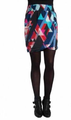 Paramita Graphic Print Women's Regular Multicolor Skirt