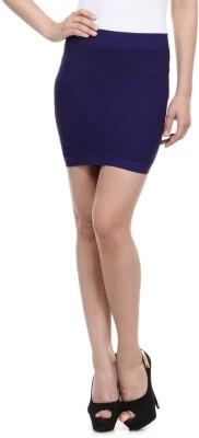 N-Gal Solid Women's Pencil Purple Skirt