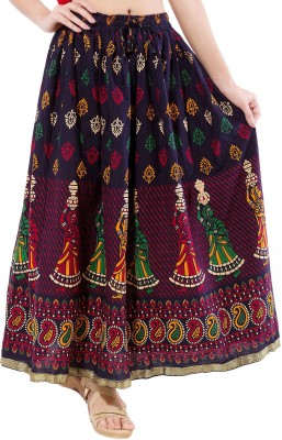 Decot Paradise Self Design Women's Regular Black Skirt at flipkart