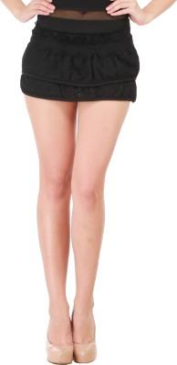 Star Style Striped Women's A-line Black Skirt