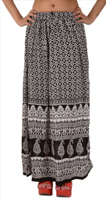 Skirts & Scarves Printed Women's A-line Black Skirt