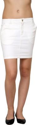 Pankhuri For Women Solid Women,s Tube White Skirt