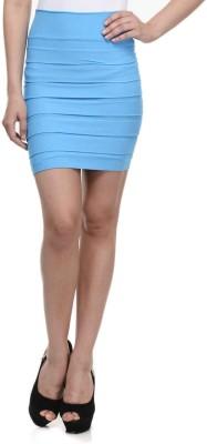 N-Gal Striped Women's Pencil Light Blue Skirt