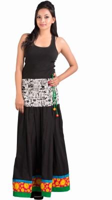 BigCart Printed Women's Regular Black Skirt