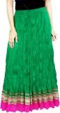 Rangreja Solid Women's A-line Green Skir...
