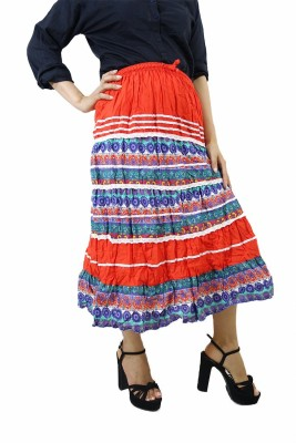 ShopMore Printed Women's Regular Multicolor Skirt